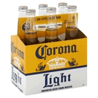 Corona Light 6 pk bottles