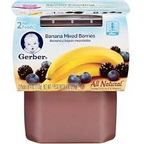 Gerber - 2nd - 2 pack 3.5oz each - Bananas w/Mixed Berries