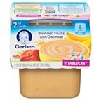 Gerber - 2nd - 2 pack 3.5oz each - Blended Fruit w/Oatmeal