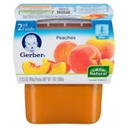 Gerber - 2nd - 2 pack 3.5oz each - Peaches